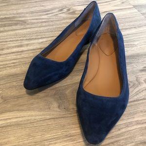 Calvin Klein Elle Royal Blue Pointed Toe Flats